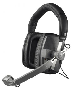 Professional headset with balanced microphone for on-air commentary requiring broadcast quality.