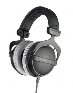 Closed reference headphone for control and monitoring applications (optionally with limiter).