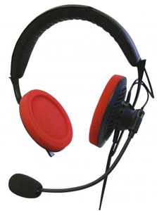 Headset, 120 Ω, condenser mic (cardioid), cable with 8-pin connector for interpreter console MCS-D 202 and SID 202
