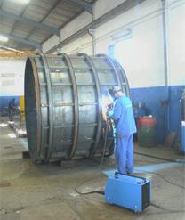 Coffrage métallique circulaire