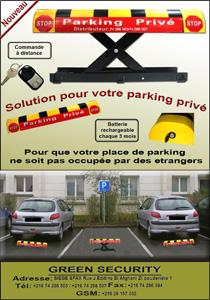 Barrière pour Parking privé
