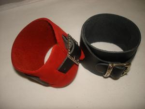 Bracelet de force en cuir de vachette