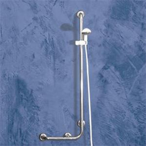 poign e de support pour douche avec dispositif de mont e descente douchette de marque goman tunisie. Black Bedroom Furniture Sets. Home Design Ideas