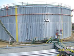 Calorifugeage, Isolation thermique des réservoirs et équipements