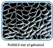 Profilé D noir et galvanisé
