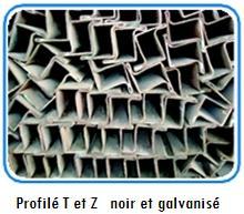 Profilé T et Z noir et galvanisé