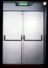 Porte anti incendie métallique