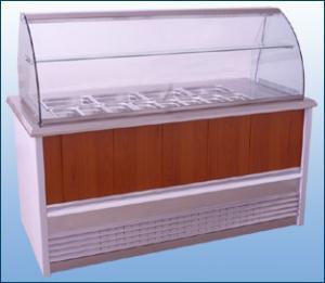 Verre bombé pour vitrine réfrigéré