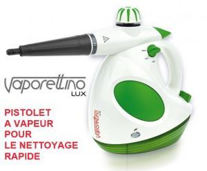 Vaporettino Lux - Pistolet à vapeur  pour le nettoyage rapide et précis)
