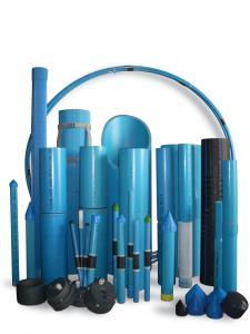 Tube PVC couleur bleu