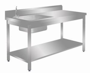 Table du chef adossée avec étagère