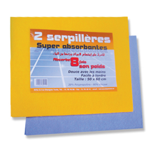 Serpilli�re super absorbante