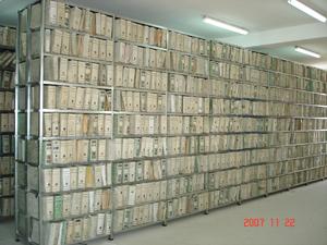 Rayonnage métallique pour archives