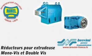 Réducteurs pour Extrudeuse Mono-Vis et Double Vis