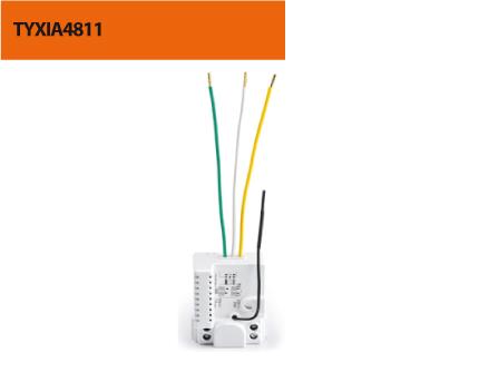 Micromodule Récepteur sans fil encastré 10 Ampères - sortie alimentée - 1 voie marche/arrêt + minuterie - DOMOTIQUE DELTA DORE