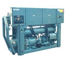 Refroidisseur de liquide à condensation par eau ou condenseurs déportés, compresseur à vis