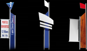 Totem et panneaux publicitaire