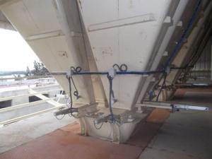 Trappe pneumatique sous silo