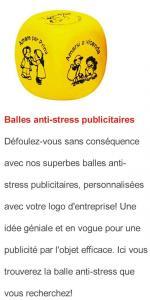 Balle anti-stress publicitaire
