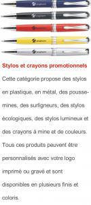 Stylo et crayon promotionnel