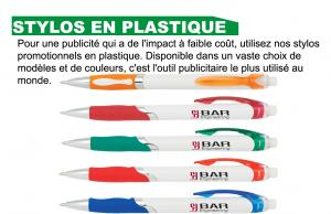 Stylo promotionnel en plastique