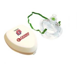 Masque de poche pour réanimation avec étui plastique rigide