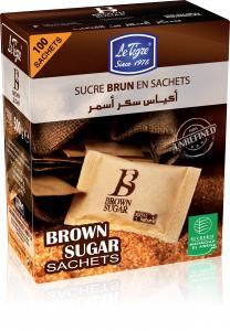 Le Tigre® Sucre brun en sachets