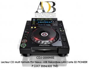 Platine Lecteur CD Professionnel � plat pour DJ