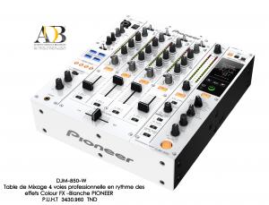 Table de Mixage 4 voies professionnelle avec synchro en rythme des effets Colour FX - Blanche