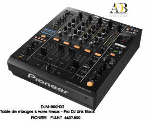 Table de mixage professionnelle - carte son USB int�gr�e PIONEER