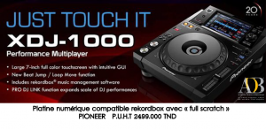 Platine num�rique compatible rekordbox avec � full scratch � PIONEER