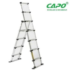 Echelle téléscopique aluminium 6+8 marches CAPO