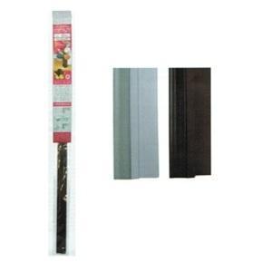 Bas de porte autocollant en levre PVC blanc et marron 1metre x 4cm