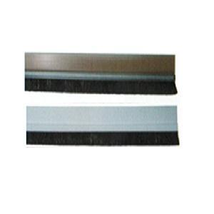 Bas de porte autocollant en brosse blanc et marron 1metre