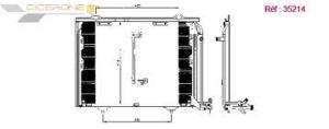 Condenseur  Mercedes  TY202  C250  AN95