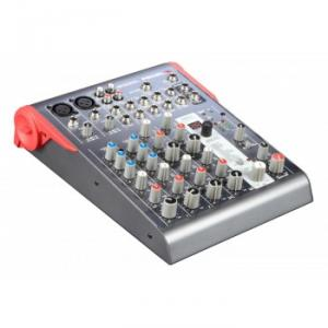 Compact 10-channel 2-bus mixer