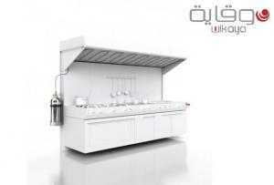 Système complet de détection ROTAREX, préconçu pour les cuisines professionnelles