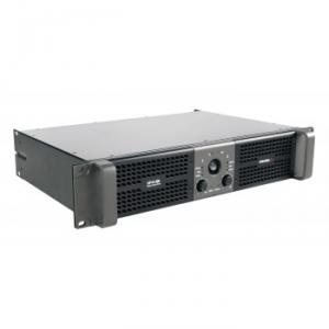 Stereo power amplifier 2 x 450 W at 2 ohm with selectable LPN filter