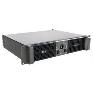 Stereo power amplifier 2 x 600 W at 2 ohm with selectable LPN filter