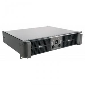 Stereo power amplifier 2 x 1200 W at 2 ohm with selectable LPN filter