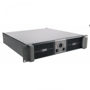 Stereo power amplifier 2 x 3000 W at 2 ohm with switchable CLIP limiter
