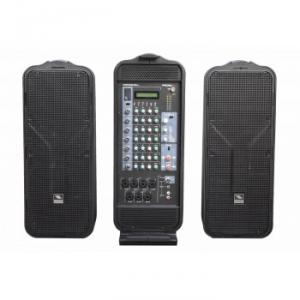 Portable all-in-one, luggage-style sound system
