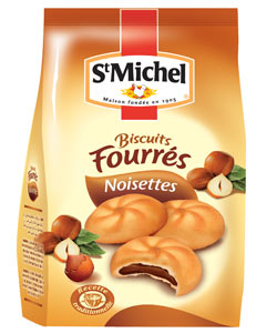 Biscuits fourrés noisette