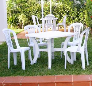 Meuble de jardin en plastique