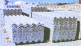 Plaques ondulées en fibro-ciment