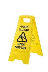 signalisation danger sol mouillé glissant