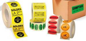 Impression étiquette  couleur  autocollante  adhésive
