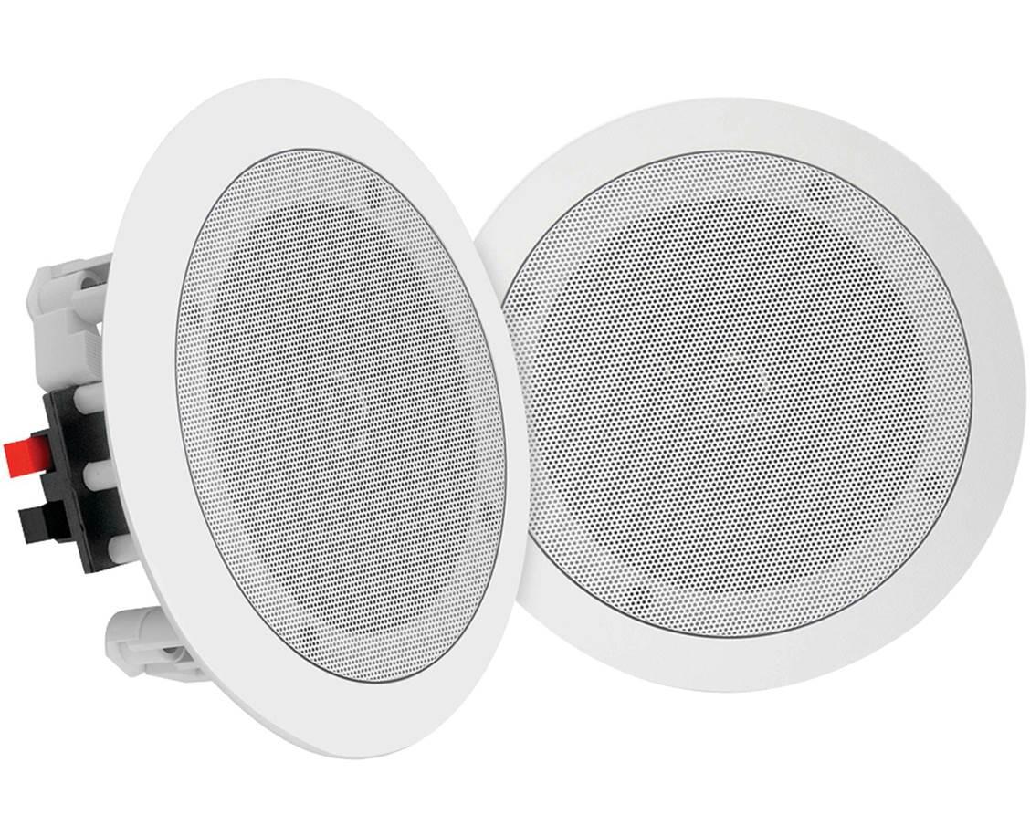 HAUT-PARLEUR DE PLAFOND , 6W, 100V + LED ROUGE