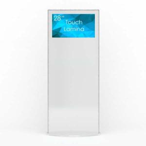 ToTem Publicitaire -Borne Digitale- Blanc en 4K