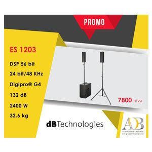 EN PROMO: Baffles portables & Amplifiée ES 1203 DB TECHNOLOGIES